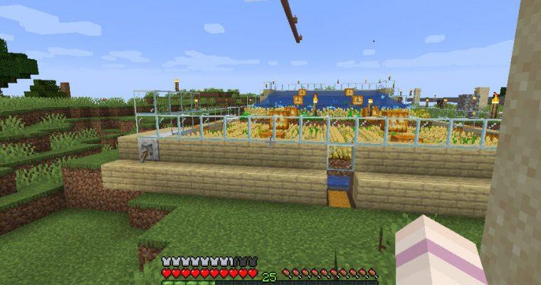 水流式自動小麦収穫機(java)